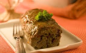 Bolo de carne light com legumes