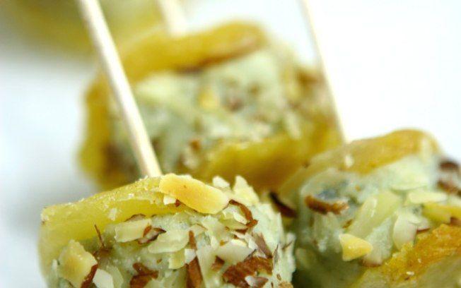 Casulo de pera com roquefort