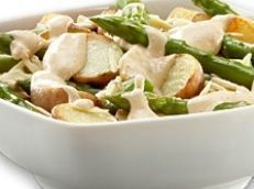 Salada de batatas e aspargos
