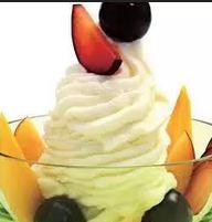 Frozen iogurte de tangerina