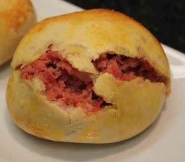 Pão de batata com recheio misto