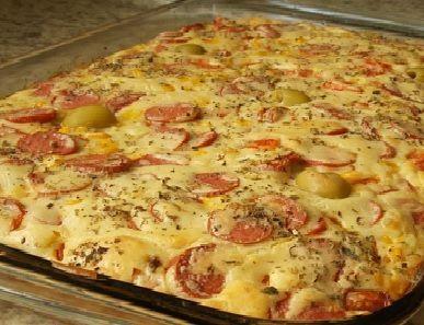 Torta de salsicha em 30 minutos