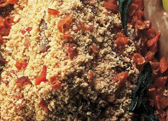 Farofa com figo seco e damasco