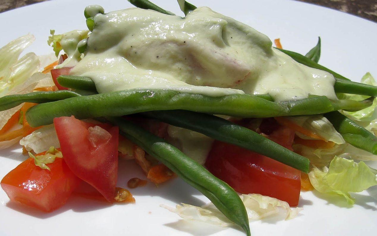 Molho para salada com iogurte natural