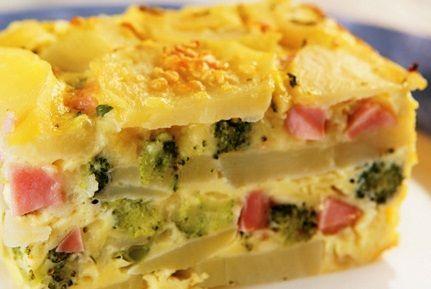 Omelete de batata e brócolis