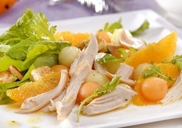 Salada de melão com chester