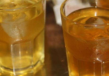 Chá Gelado de Maçã e Maracujá