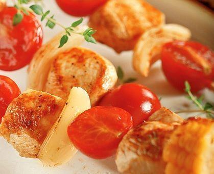 Espetinho Frango Carne e Cebola
