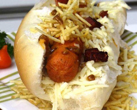 Hot Dog com Bacon