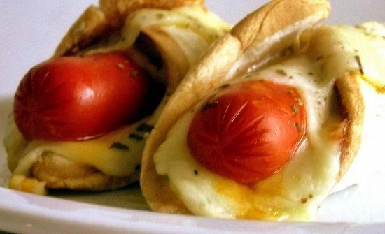 Hot dog no pão de forma