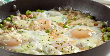 Refogado de Ervilha com Ovos