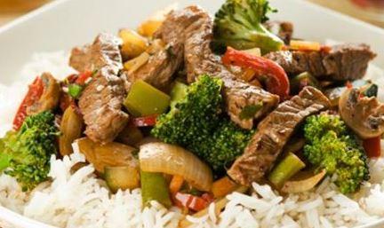 Carne com Legumes e Laranja
