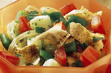 Salada com Pão Sírio