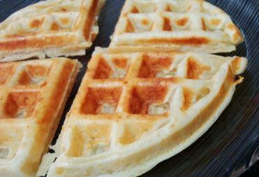 Waffle de leite de soja
