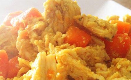 Frango ao Curry com Cenoura