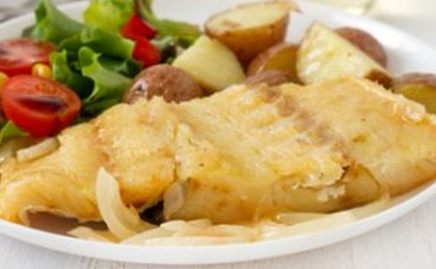 Bacalhau com Batatas em Rodelas