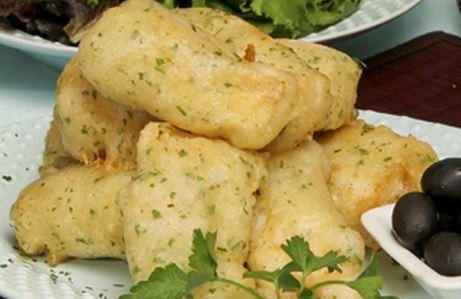Bacalhau Empanado e Frito