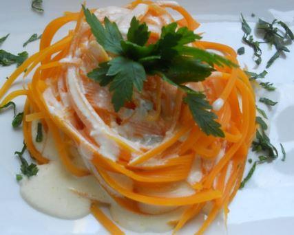 Espaguete de Cenoura com Gorgonzola
