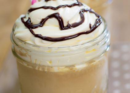 Frappuccino de Caramelo e Baunilha
