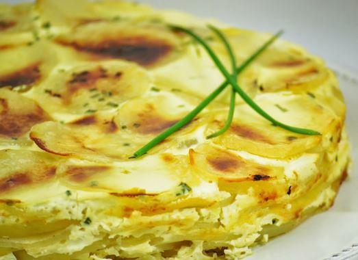 Roseta de batatas no forno