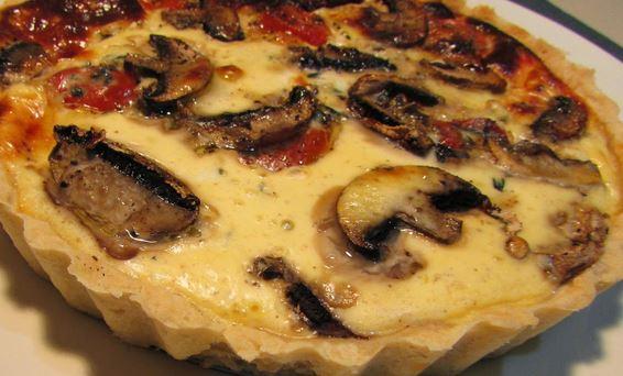 Quiche de Cogumelos e Tomate Seco