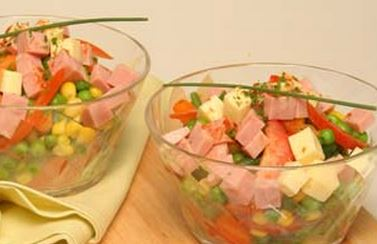 Salada com Legumes e Fiambre
