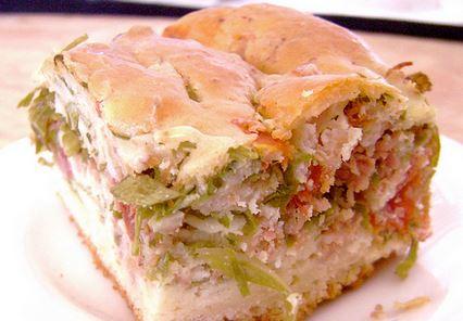 Torta Rápida de Linguiça e Couve