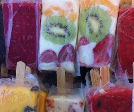 Picolé de Iogurte e Frutas