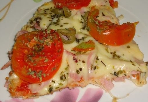 Pizza Rápida com Pão de Forma