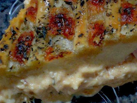 Torta de Frango com Peito de Peru e Mussarela
