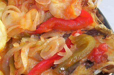 Bacalhau com Tomates Assados