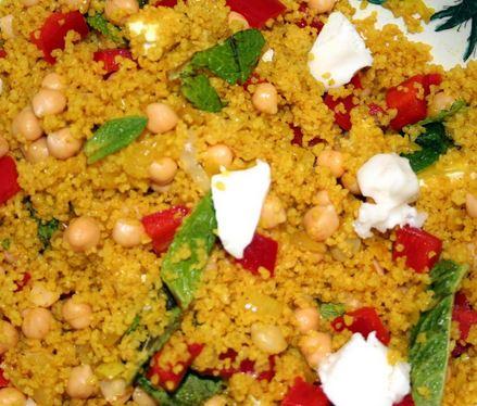 Cuscuz Marroquino de Legumes e Grão-de-Bico