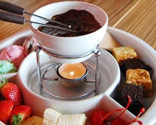 Fondue de chocolate com Ovomaltine