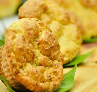 Muffins de bacon e ervas