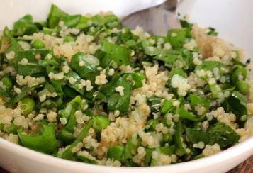 Salada de Ervilha e Quinoa