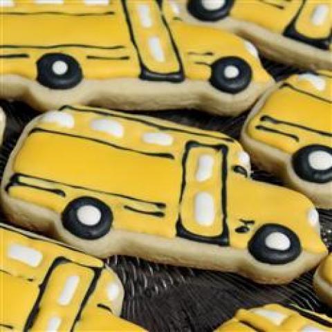 Biscoitos de açúcar em recortes