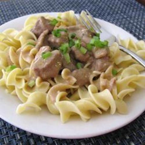 Estrogonofe com carne de fogão