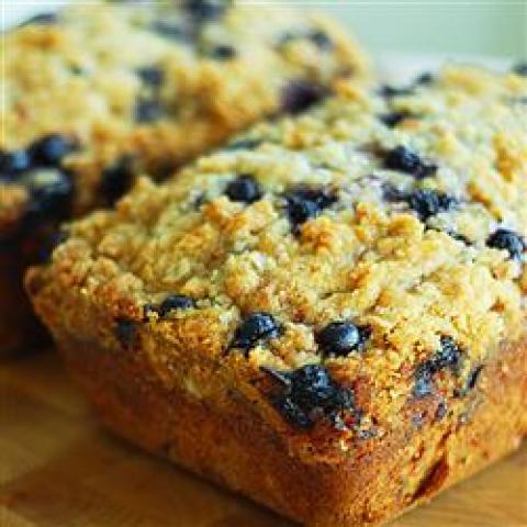 Pão de Blueberry e Abobrinha