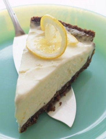 Torta de Limão congelado com cookies de gengibre
