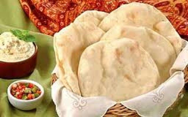 Croutons de pão sírio