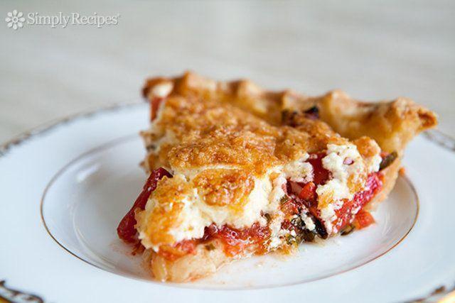 Torta de Tomate com manjericão