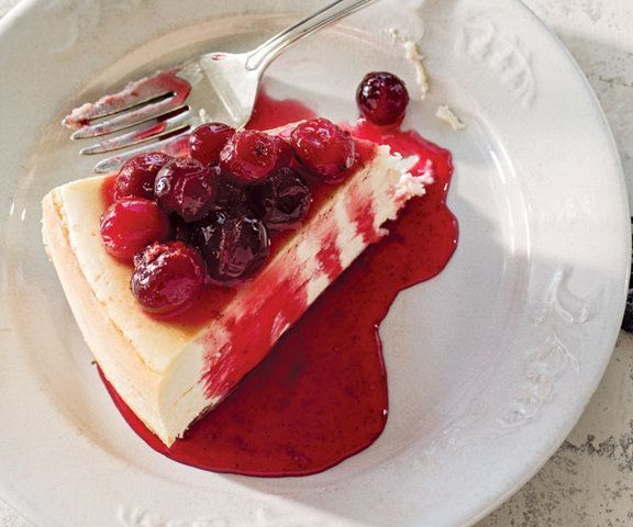 Cheesecake de cranberry