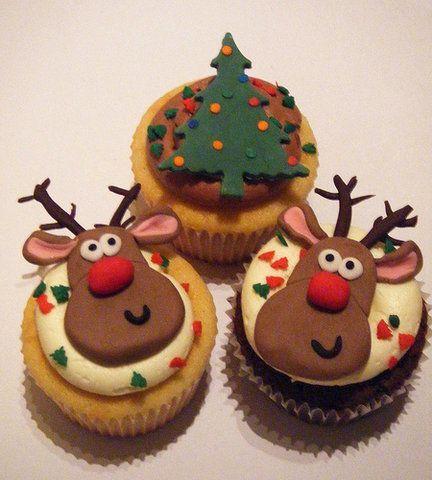 Lindos cupcakes para o Natal