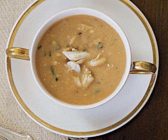 Sopa de caranguejo e couve flor (bisque)