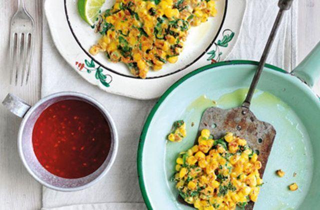 Bolos de milho em estilo tailandês
