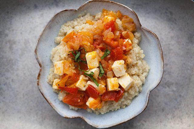 Quinoa com queijo
