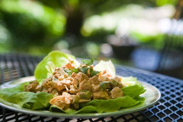 Salada de frango Cajun