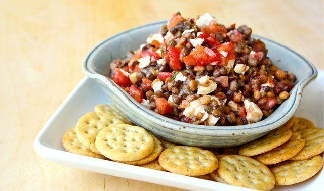 Salada de lentilha de 1 minutos