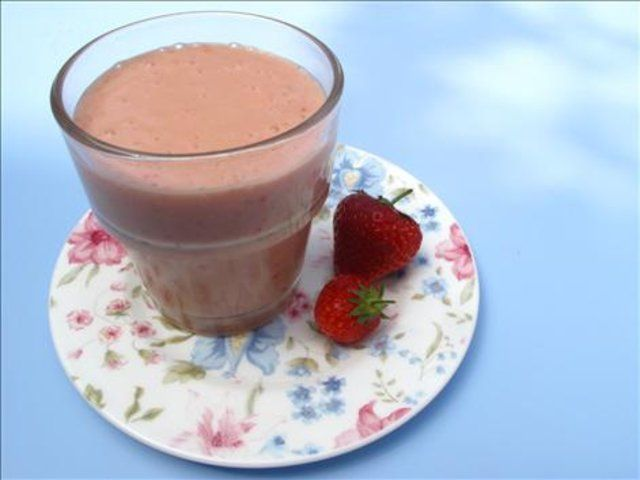 Smoothie de banana e Morango