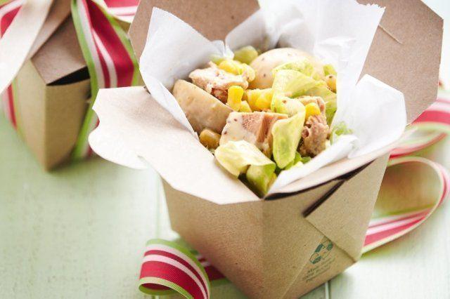 Atum cremoso com salada de batata